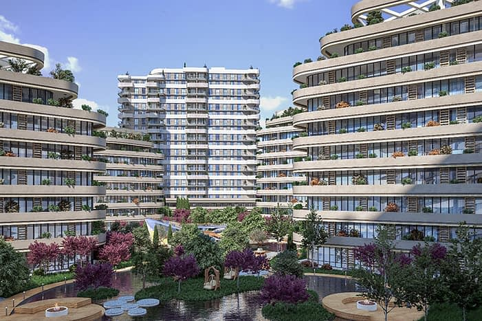 For Sale homes in compound Istanbul Turkey - للبيع شقق تقسيط اسطنبول تركيا
