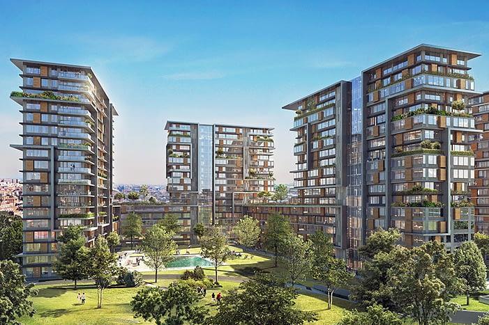 Properties for sale in compound Istanbul - للبيع شقق تقسيط اسطنبول تركيا